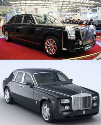 Hongqi HQD и Rolls-Royce Phantom